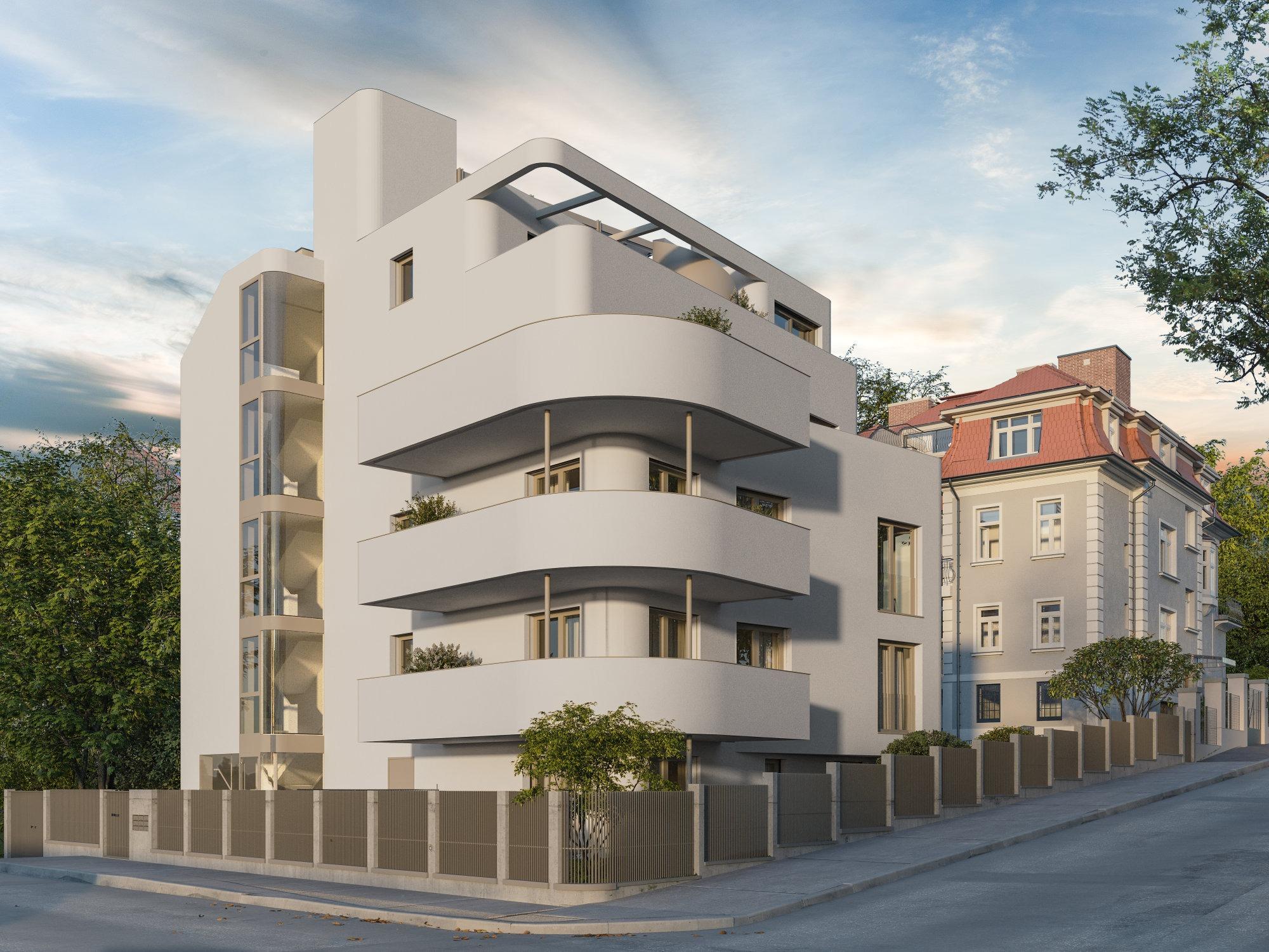 Moderner Neubau Front Big