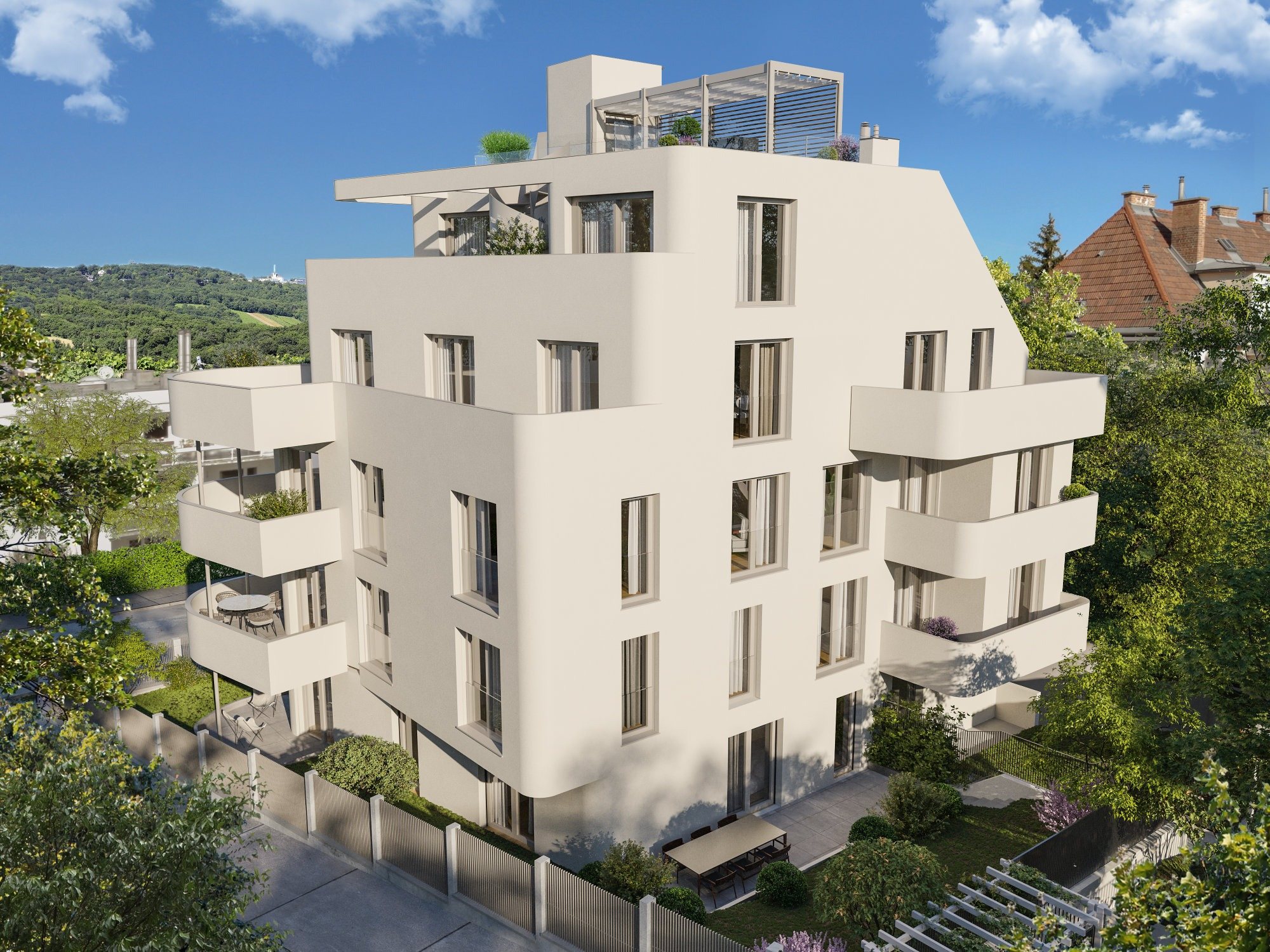 Moderner Neubau Rueck Big